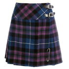 Pride of Scotland Mini Skirt Ladies Billie Kilt With Free Kilt Pin Sizes 6-22UK