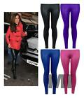 New Women's Ladies Celeb Inspired PU Shiny Wet Look Leggings Trouser 8-14