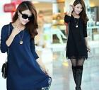 Fashion women loose lace knit sweater long tops autumn and winter new hot sell