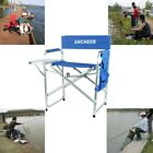 Portable Aluminium Folding Director's Chair w/Side Table >Side Pockets Top Sale#
