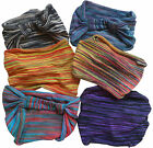 FAIR TRADE COTTON HIPPY BOHO ELASTICATED HAIR BANDANA BANDS ACCESORIES - 2 PACK