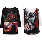 Women Ladies T-shirt Shirt Tee Top Long Sleeve Casual Loose M L
