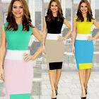 Women Color Long Slim Casual Fashion Bodycon Party Pencil Office Cocktail Dress