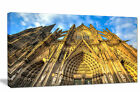 'Dom Church in City Cologne Lit by Sun' Photographic Print on Wrapped Canvas