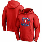 Philadelphia Phillies Police Badge Pullover Hoodie - Red - MLB