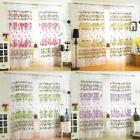 Romantic Floral Tulle Voile Door Window Curtain Panel Drape Sheer Scarf Valances
