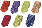 Multi Range of Different Paisley Silk Tie Patterns
