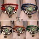 7 Colors Butterfly Quartz Leather Wrist Watch Bracelet Strap Watches Gift TXST