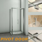 Aica 700/760/800/900/1000 Pivot Hinge Shower Door Enclosure +Tray Glass Screen