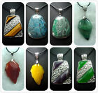27X42,33x50,32X38,36X45MM New Gemstone Copper Necklace Pendant Bead 1pcs P01A