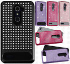 For ZTE ZMAX PRO Hybrid IMPACT Diamond Layered Case Phone Cover Accessory