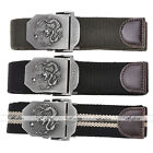 Fashion New Style Mens Dragon Pattern Totem Metal Buckle Canvas Buckle Web Belt
