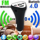 Wireless Bluetooth 4.1 FM Transmitter Car Kit Mp3 AUX Radio Adapter USB Charger