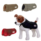 New Harris Tweed Dog Coat Jacket - Puppy And Large Dog Sizes - Range Of Colours