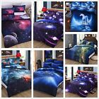 Galaxy Duvet Cover Quilt Cover Set  Pillow cases Double Size Bedding Set New