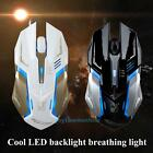 Adjustable DPI 4 Buttons USB LED Optical Wired Gaming Mouse Mice For PC Laptop