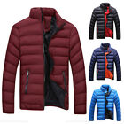 Korean Fashion MEN Slim Stand Collar Jacket Winter Thick Padded Coat Outwear New