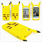 Cartoon Yellow Pokemon Pikachu Soft Silicone Back Case Cover For Various Phones