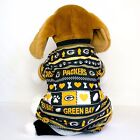 Green Bay Packers Logo Patterned Dog Shirt NFL Football Official Pet Product