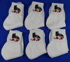 Quarter Roller Skate Logo Athletic Socks Size 9-11 Roller Derby Jam