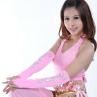 Belly Dance Arm Gloves Sequined Indian Dancing Costume Accessory 1 Pair 6 Colors