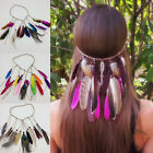 Indian Women Feather Headpiece Festival Party Hair Accessories Headband Headwear