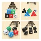 7pcs Games Multi Sides Dice Game Playing Tools Mixed Color Set Gaming Dices
