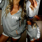 Women Long Sleeve Hoodie Sweatshirt Sweater Hooded Pullover Tops Jumper Coat