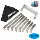 Square Corner Kitchen Cabinet Door Handles Stainless Modern Steel Drawer Pulls