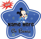 Personalize   Customize Mickey   Minnie Baby On Board Car Sign