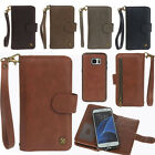 Flip Removable Wallet Magnetic Leather Card Sot Case Cover for Phone