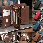 Leather Removable Wallet Magnetic Flip Card Case Cover for iPhone 8 & 7/6S Plus