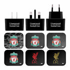 LIVERPOOL FC CREST & LIVERBIRD BLACK UK CHARGER MICRO-USB CABLE FOR LG PHONES 1