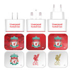 LIVERPOOL FC CREST LIVERBIRD WHITE UK CHARGER USB CABLE FOR APPLE iPHONE PHONES