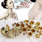 New Retro Peacock Full Crystal Rhinestones Barrette Hair Clip Hairpin Bridal