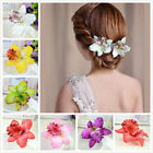 Colorful Orchid Flower Hair Clip Bridal Wedding Barrette Women Girls Accessories