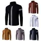 Stylish New Men's Casual Slim Fit T-shirts Top Stripes Long Sleeve tee  Basic T