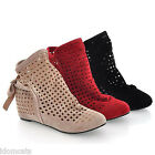 Womens Boots Sandals Casual Flats Ankle booties Ladies wedges Shoes Size 8-1