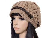 Women's Winter Warm Knitted Crochet Slouch Baggy Beanie Hat Cap Fashion 6 Colors