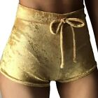 2017 Hot Sexy Women Ladies' Slim Crushed Velvet Runner High Waist Shorts Pants