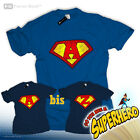 Be a Superman Superheld T-Shirt Name Logo Letter Buchstabe A B C D E F G H I