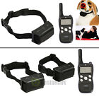 Electric Dog Training Shock Collar 1000 Yard Waterproof Rechargeable For 1-3 Dog