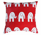 ELEPHANT RED WHITE KIDS CUSHION COVER BABY NURSERY CHAIR THROW PILLOW DECOR 45cm