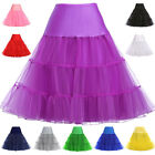 Womens Retro 50s Pinup Petticoat Skirt Rock N' Roll Tutu Pettiskirt Swing Dress