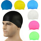 Unisex Silicone Sport Outdoor Swimming Cap for Women and Men Average Large Heads