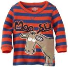 Toddler Boys Thermal Long Sleeve Striped Shirt Crew Neck Str