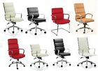 High Back Exec Managers Eames Style Charles Ribbed Office Visitor Computer Chair
