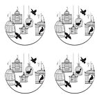 A Pack of 4 birds in a cage design Pattern Weights TV Sewing Bee