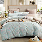Shabby Chic Paisley Double/Queen Size Bed Quilt/Doona/Duvet Cover Set Pillowcase