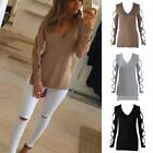 Fashion Womens Summer Casual Blouse Tops Long Sleeve Off Shoulder T- Shirt